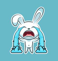 Sticker emoji emoticon emotion sob cry weep vector