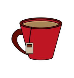 Tea cup design vector