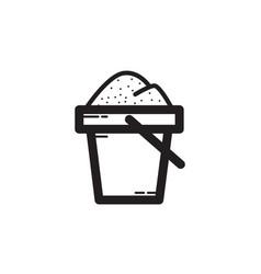 Thin line sand bucket icon vector