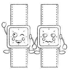 Watches kawaii icon image vector