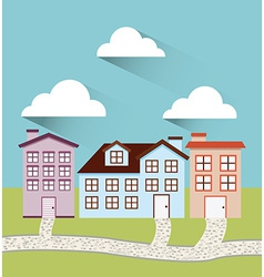 welcome neighborhood vector image