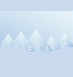 winter landscape with mountains a festive vector image vector image