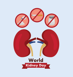 World kidney day healthcare medical campaign vector