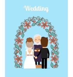 Wedding ceremony vector