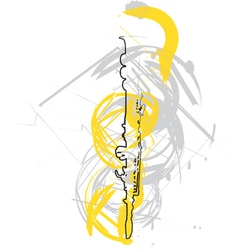 Abstract flute vector