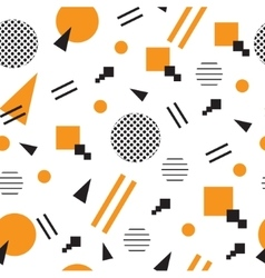 Minimalist pattern with geometric shapes modern vector