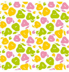 Pear fruit seamless pattern for fabric background vector