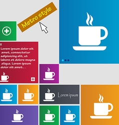 Coffee icon sign buttons modern interface website vector