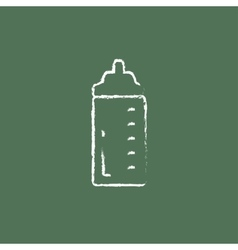 Feeding bottle icon drawn in chalk vector