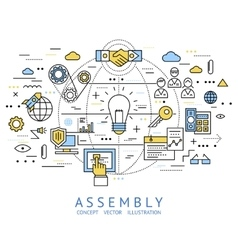 Assembly Line Art vector image vector image