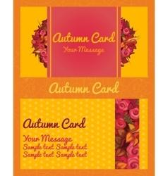 Autumn card invitation flyer business card vector