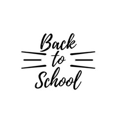 back to school typographic - vintage style vector image vector image