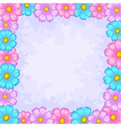 Background frame from flowers vector