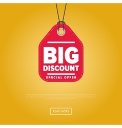 Big discount isolated sale sticker vector