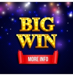 Big Win Background Eps 10 format vector image