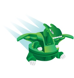 cartoon robot dinosaur toy vector image