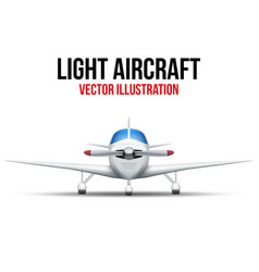 Civil light aircraft vector