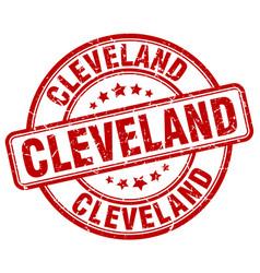 Cleveland red grunge round vintage rubber stamp vector