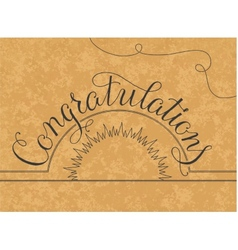 Congratulations lettering hand written design on a vector
