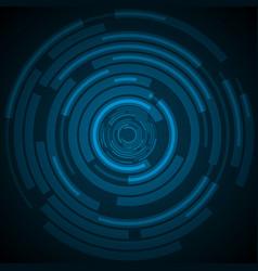 Dark blue technology futuristic hud background vector