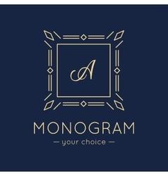 Elegant monogram logo trendy thin letter vector