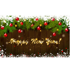 Happy new year panoramic banner vector