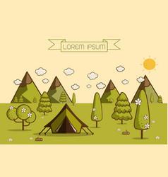 Hiking and camping vector