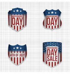 Independence day sale festive signs set vector