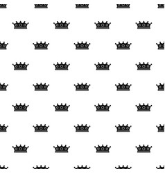 Jewelry crown pattern vector