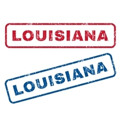 Louisiana rubber stamps vector