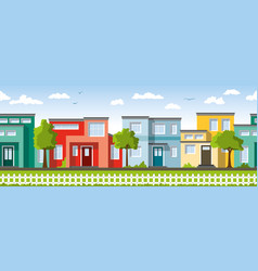 Modern colorful houses also usable as a vector