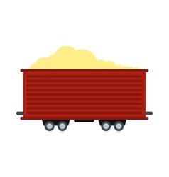 Open rail car icon vector