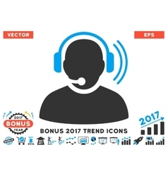 Operator Signal Flat Icon With 2017 Bonus Trend vector image