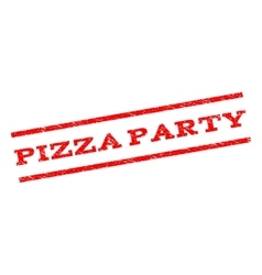 Pizza party watermark stamp vector