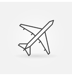 Plane linear icon vector image