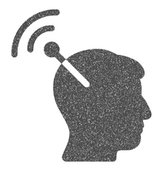 Radio neural interface grainy texture icon vector