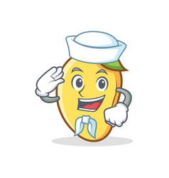 Sailor mango character cartoon mascot vector