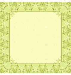 Square green background with decorative ornate vector