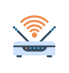 wifi router wireless internet connection icon vector image
