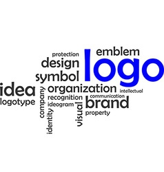 Word cloud logo vector