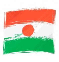 grunge Niger flag vector image
