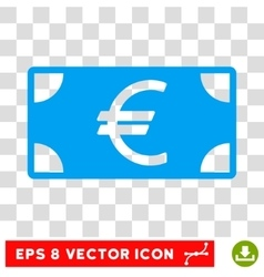 Euro banknote eps icon vector