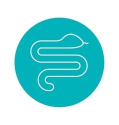 Circle shape with snake wild animal vector image