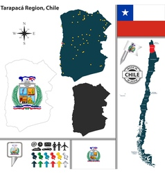 Map of Tarapaca vector image