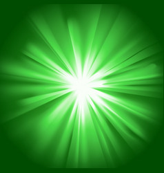 Glowing light green burst vector