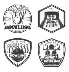 Vintage monochrome active recreation emblems set vector