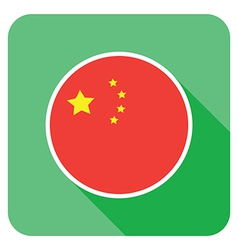 Flat china icon vector