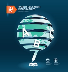 Education and graduation infographic world vector image