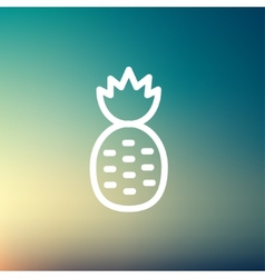 Pineapple thin line icon vector