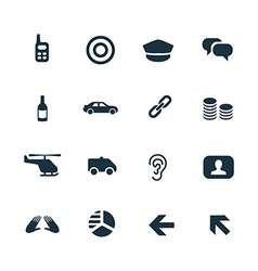 Crime justice icons set vector